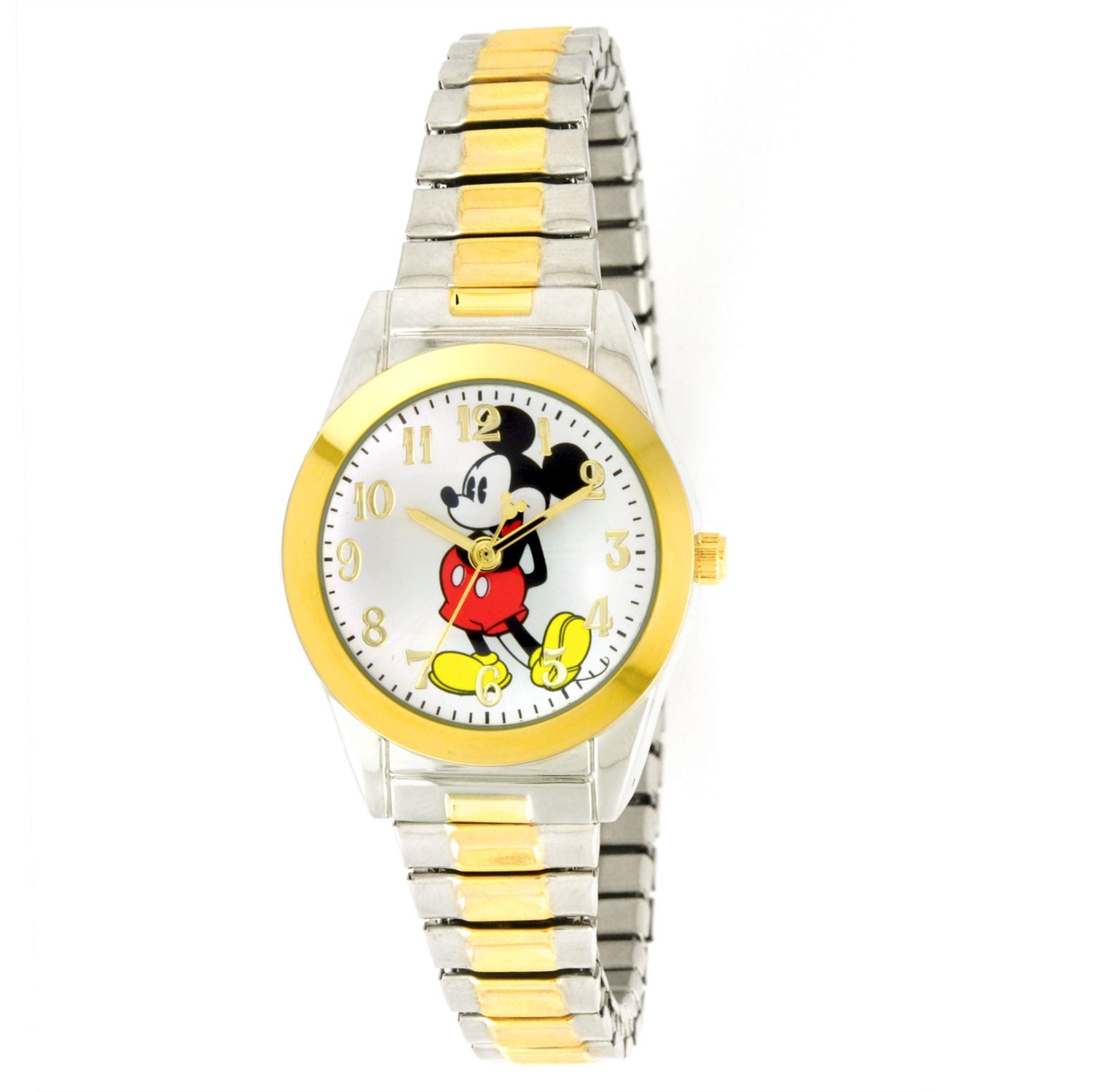 Women's MCK579 Mickey Mouse Two-Tone Expansion Band Watch