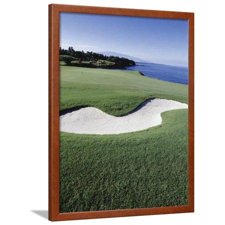Mauna Kea Golf Course, Hawaii, USA Framed Print Wall (Mauna Kea Golf Course)