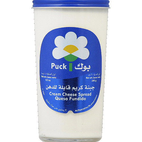 Puck Cream Cheese Spread, 8.5 oz, (Pack of 6)