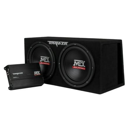 MTX TNP212DV 12-Inch 2000-Watt Dual Loaded Subwoofer Enclosure with Amplifier