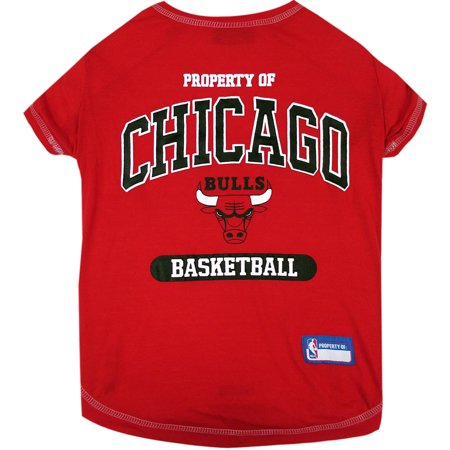 Pets First NBA Chicago Bulls Pet T-shirt, Assorted Sizes - Bulls Nba