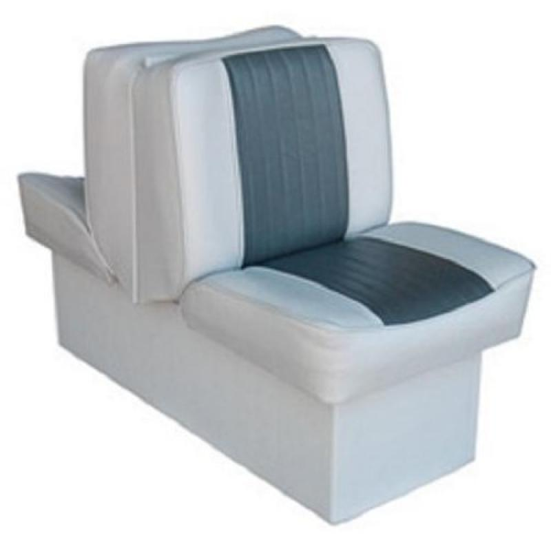 Wise 8WD707P-1-664 Deluxe Lounge BoatSeat, Grey-Charcoal by Wise