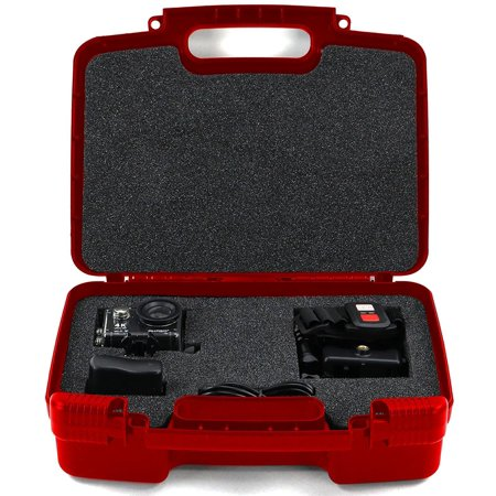 Hard Storage Carrying Case For Akaso EK7000 4K WIFI Sports Action Camera Fits Akaso Cameras, Tripod, Battery Charger, USB Cable, Mount and - Mount Usb Camera