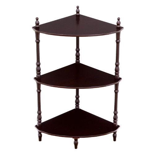 Home Craft 3-Tier Corner Shelves in Multiple Colors