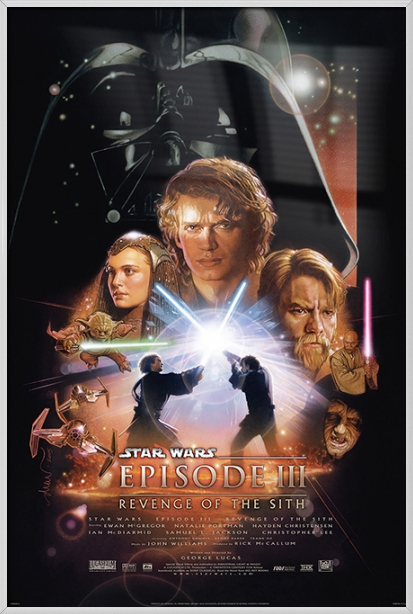 Star Wars Episode Iii Revenge Of The Sith Framed Movie Poster Print Regular Style Size 24 X 36 Walmart Com Walmart Com