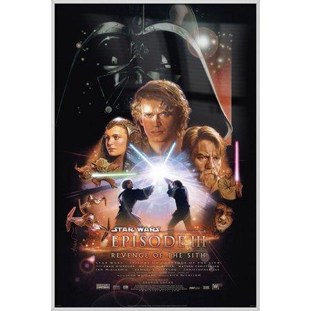 Star Wars: Episode III - Revenge Of The Sith - Framed Movie Poster / Print (Regular Style) (Size: 24'' x 36'')](Star Wars Room Decor)