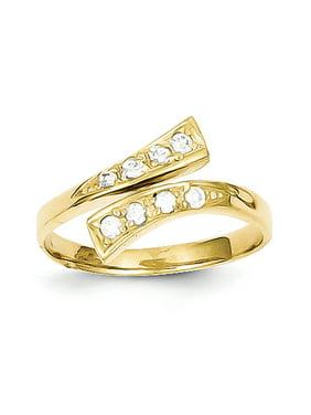 10k Yellow Gold CZ Toe Ring