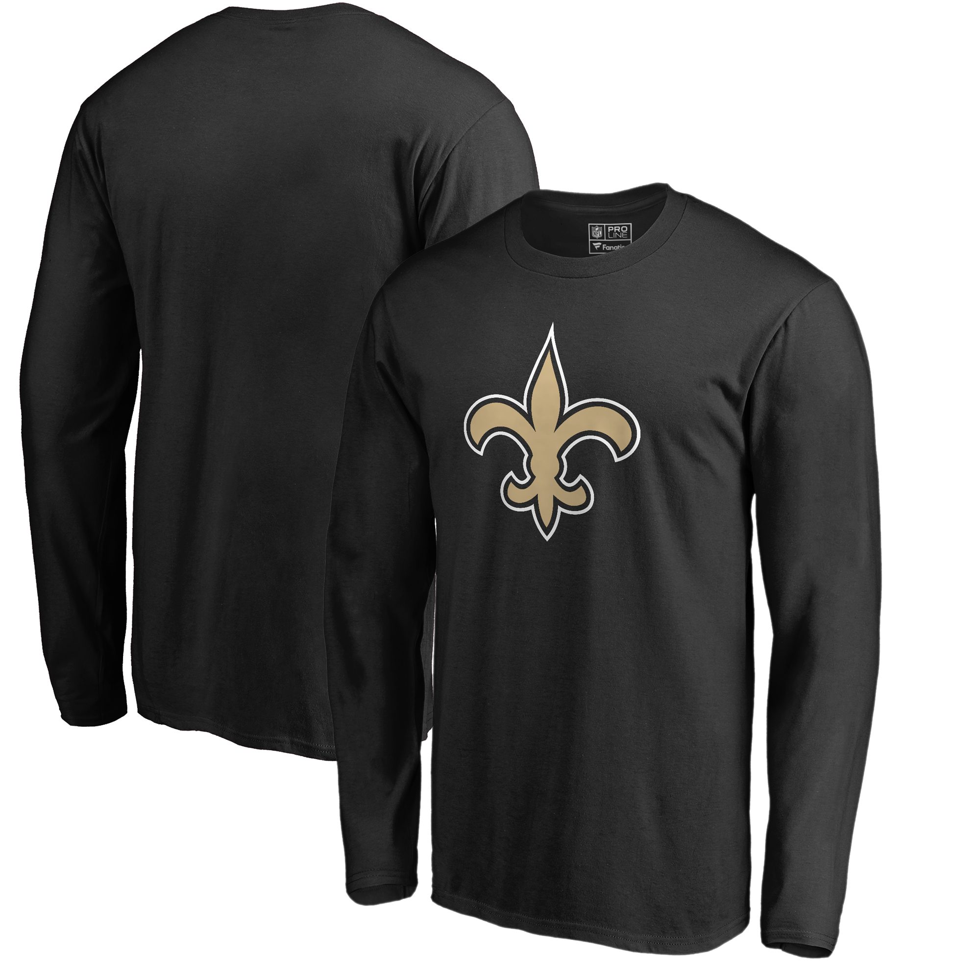 New Orleans Saints NFL Pro Line by Fanatics Branded Primary Logo Long-Sleeve T-Shirt - Black
