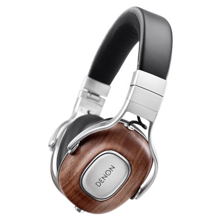 Denon AH-MM400 Music Maniac Audiophile On-Ear Headphones with Apple Remote (Wood)