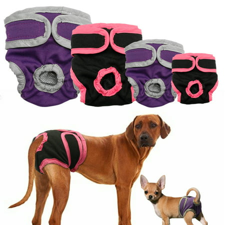 Washable Female Dog Diapers, Reusable Doggie Diaper Wraps for Female Dogs, Super-Absorbent and (Doggie Diapers For Female Dogs In Heat)