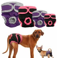 Washable Female Dog Diapers, Reusable Doggie Diaper Wraps for Female Dogs, Super-Absorbent and Comfortable