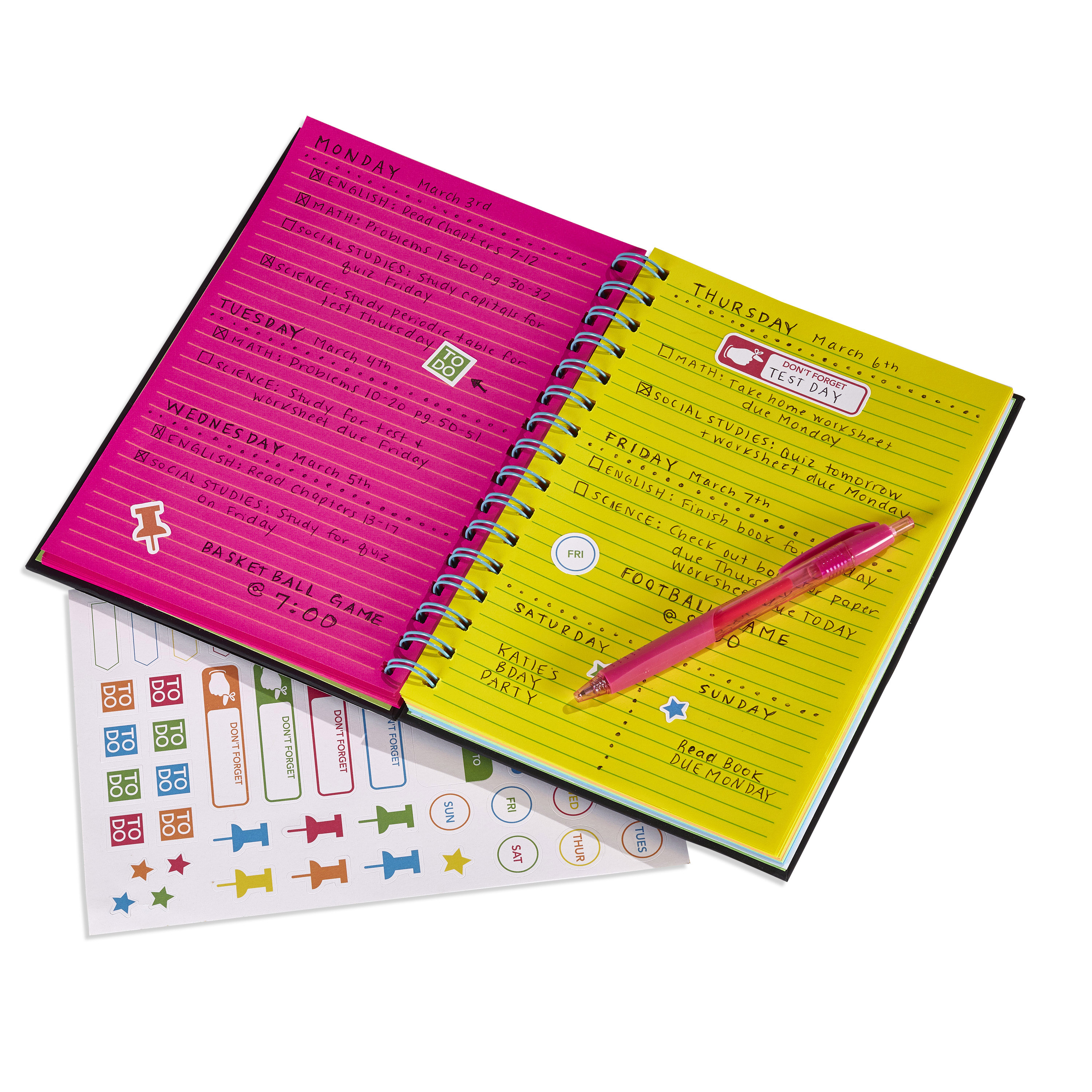 """Astrobrights Twin Wire Journal, 6.5"""" x 8.5"""", Multi-Color Ruled Pages, 180 Pages"""