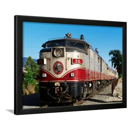 Napa Valley Wine Train (Napa Valley Wine Train, Napa Valley, California Framed Print Wall Art By John Elk)