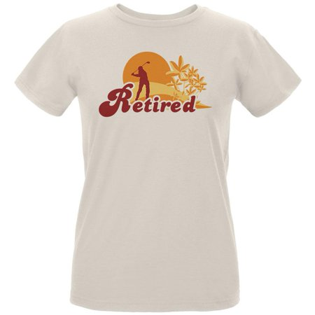 Retired Golf Golfer Sunset Womens Organic T Shirt