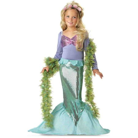 Lil' Mermaid Toddler Halloween Costume, Size 3T-4T (Halloween Costume Peter Pan Toddler)