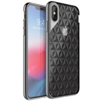 iPhone Xs Max Case, i-Blason [Matrix] Slim Flexible Clear TPU Protective Case with Electroplated Metallic Bumper for Apple iPhone Xs Max 6.5 Inch 2018 (Black)