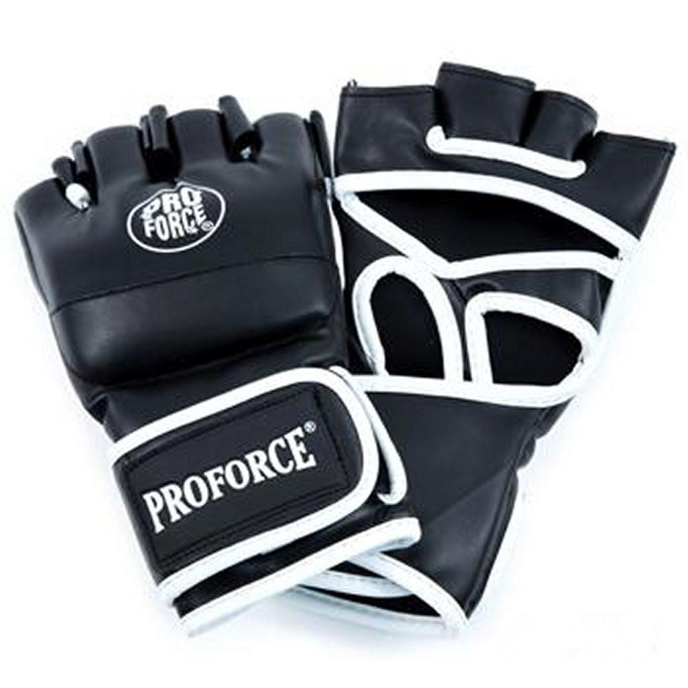 Proforce Gladiator Synthetic Leather MMA Fight Gloves - Black and White
