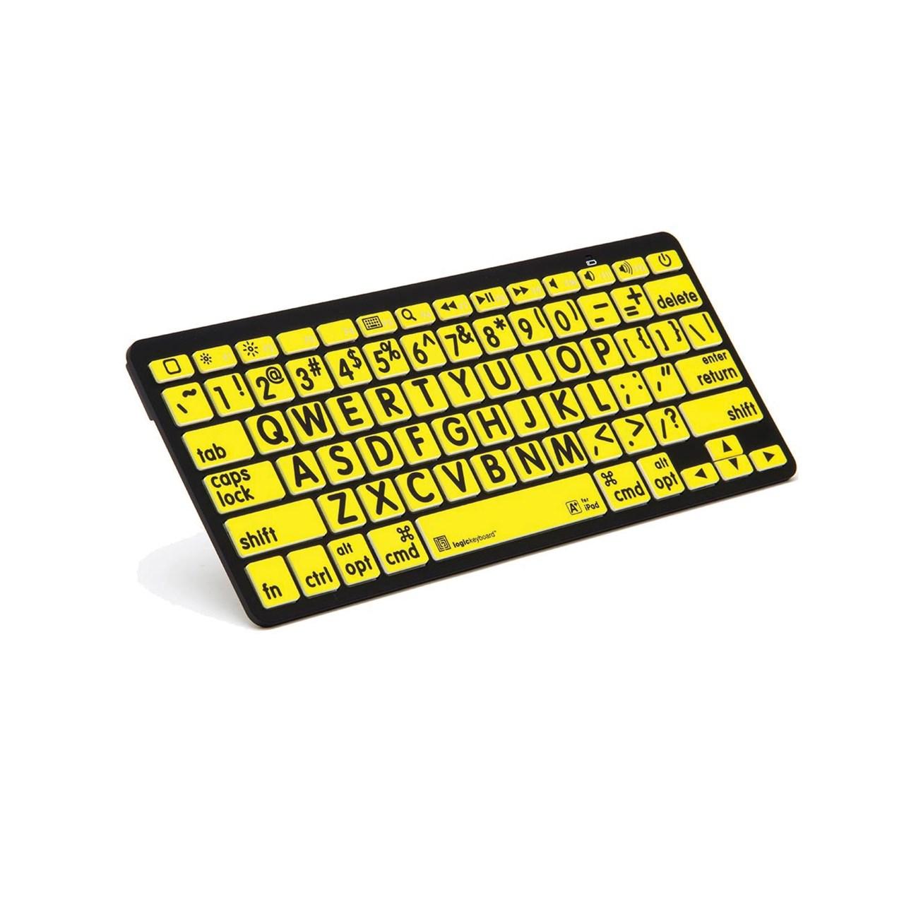 Large Print Black on Yellow Apple BlueTooth Keyboard