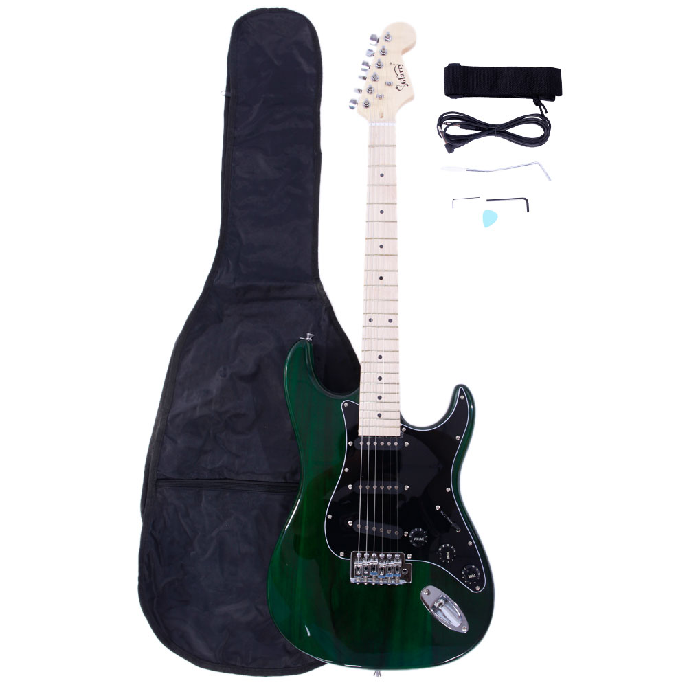 Ktaxon Glarry ST Burning Fire 22 Frets Basswood Beginner Electric Guitar w/ Accessories 8 Colors