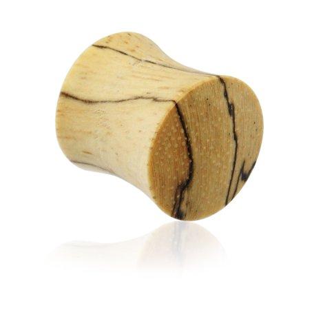 - Pair Of Organic Tamarind Wood Saddle Plugs,Gauge (Thickness):2 (6.5Mm)