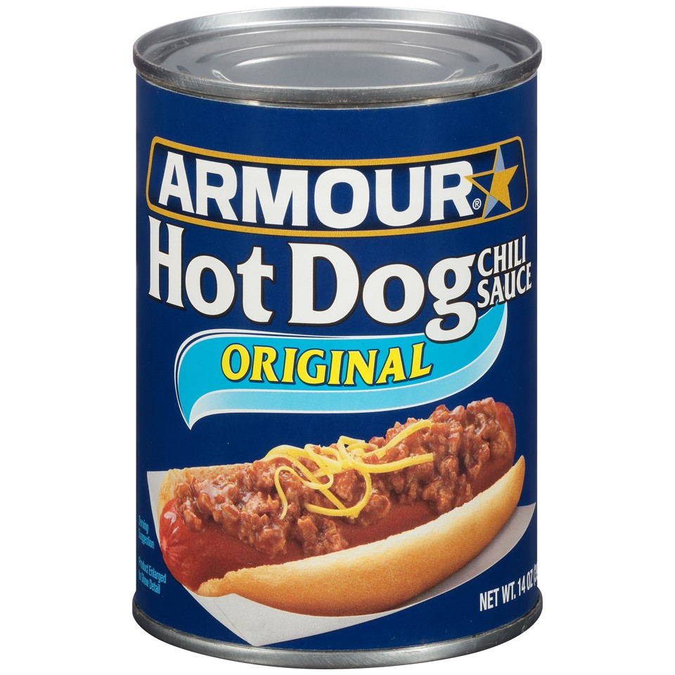 (4 Pack) Armour Hot Dog Chili Sauce, Original, 14 Oz