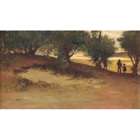 Sand Bank With Willows Magnolia Poster Print By William Morris Hunt  American Brattleboro Vermont 1824   1879 Appledore New Hampshire   18 X 24