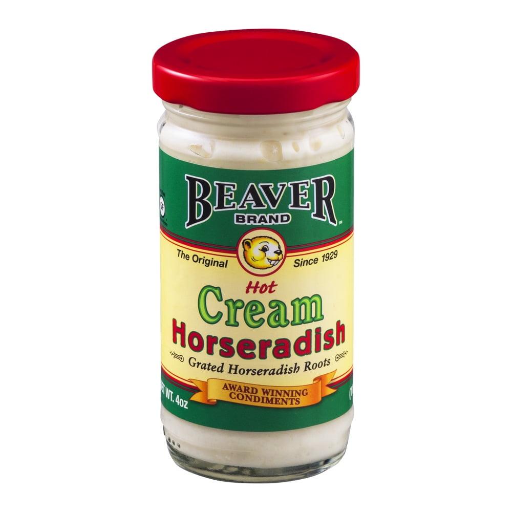 Beaver Brand Hot Cream Horseradish, 4.0 OZ by Beaverton Foods, Inc.