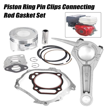 Piston Ring Pin Clip Connecting Rod Gasket Set for Sports & Outdoors GX390 Engine