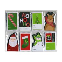 Christmas Glitter Gift Tags - Assorted Designs and Sizes - 48 Per Pack (1 Pack)