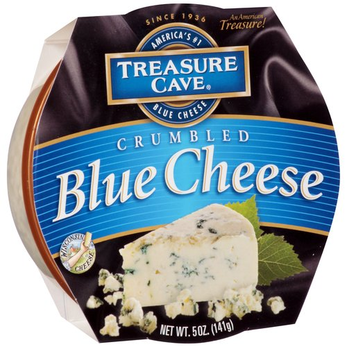 Treasure Cave Crumbled Blue Cheese, 5 oz