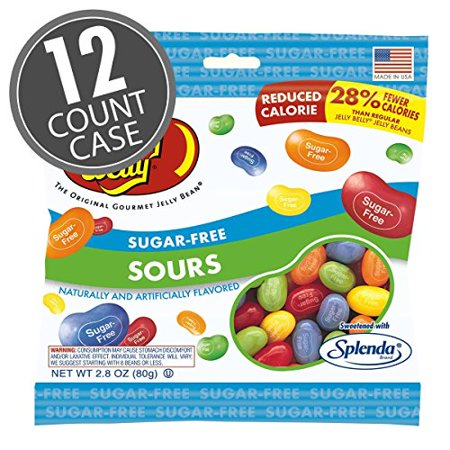 Sugar-Free Jelly Belly Sours Beans 2.1 Pound Case Free Jelly Beans