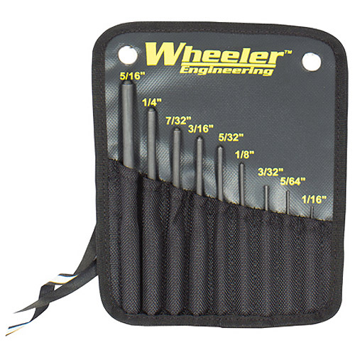 Wheeler Roll Pin Punch Set Tool, 9-Piece set