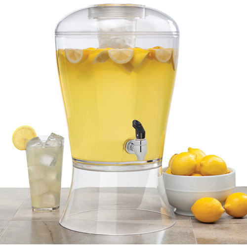Creative Bath 3-Gallon Beverage Dispenser with Ice Core