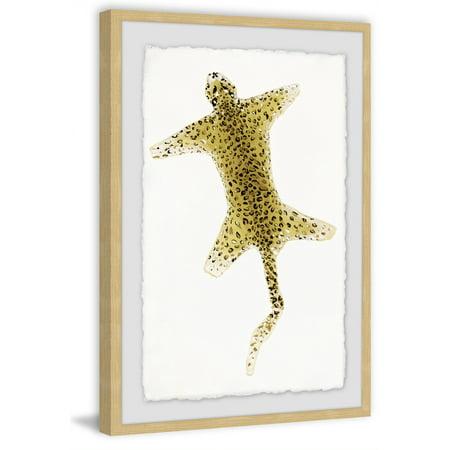Cheetah Rug Framed Painting Print