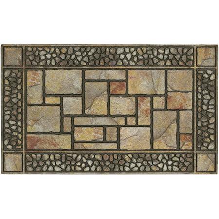 mohawk home recycled rubber door mat patio stones 18 x 30