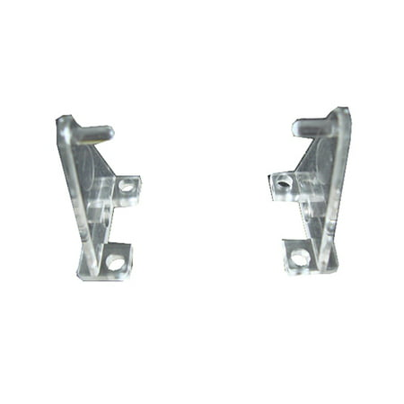 Hold Down Bracket - Hold Down Plastic Bracket For 2 inch Horizontal Blind- Pack of 2 - Clear
