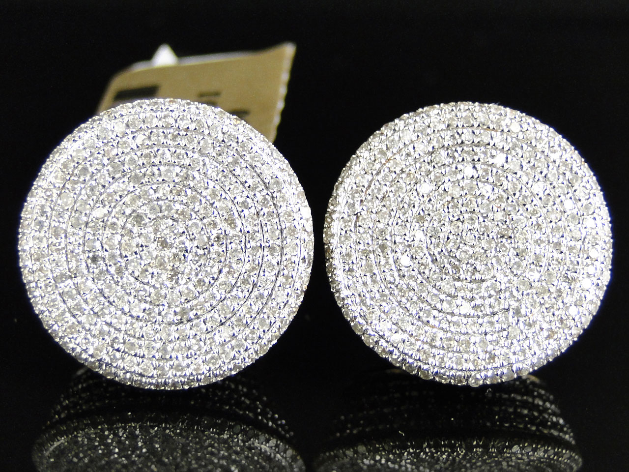 Jewelry Unlimited Xl Round Circle Diamond Earrings Set In 10k Yellow Gold 1 80 Ct