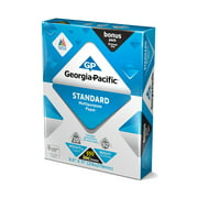 "Georgia-Pacific Standard Paper 8.5"" x 11"", 20lb/92 Bright, 550 Sheets"