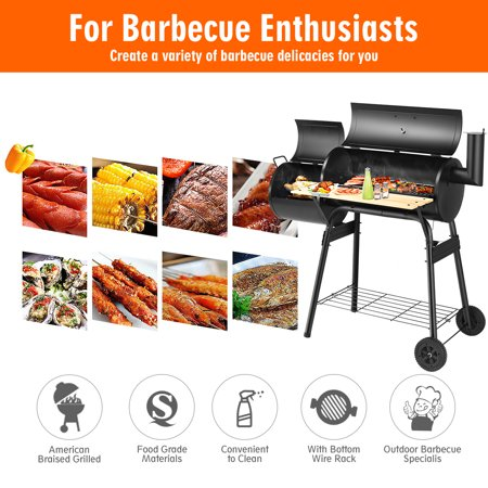 Outdoor BBQ Grill Charcoal Barbecue Pit Patio Backyard Cooker Smoker - image 9 of 10
