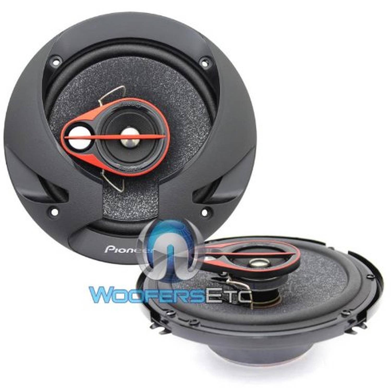 "Pioneer TS-R1650S 6.5"" 250-Watt 3-Way Coaxial Speakers, Set of 2"