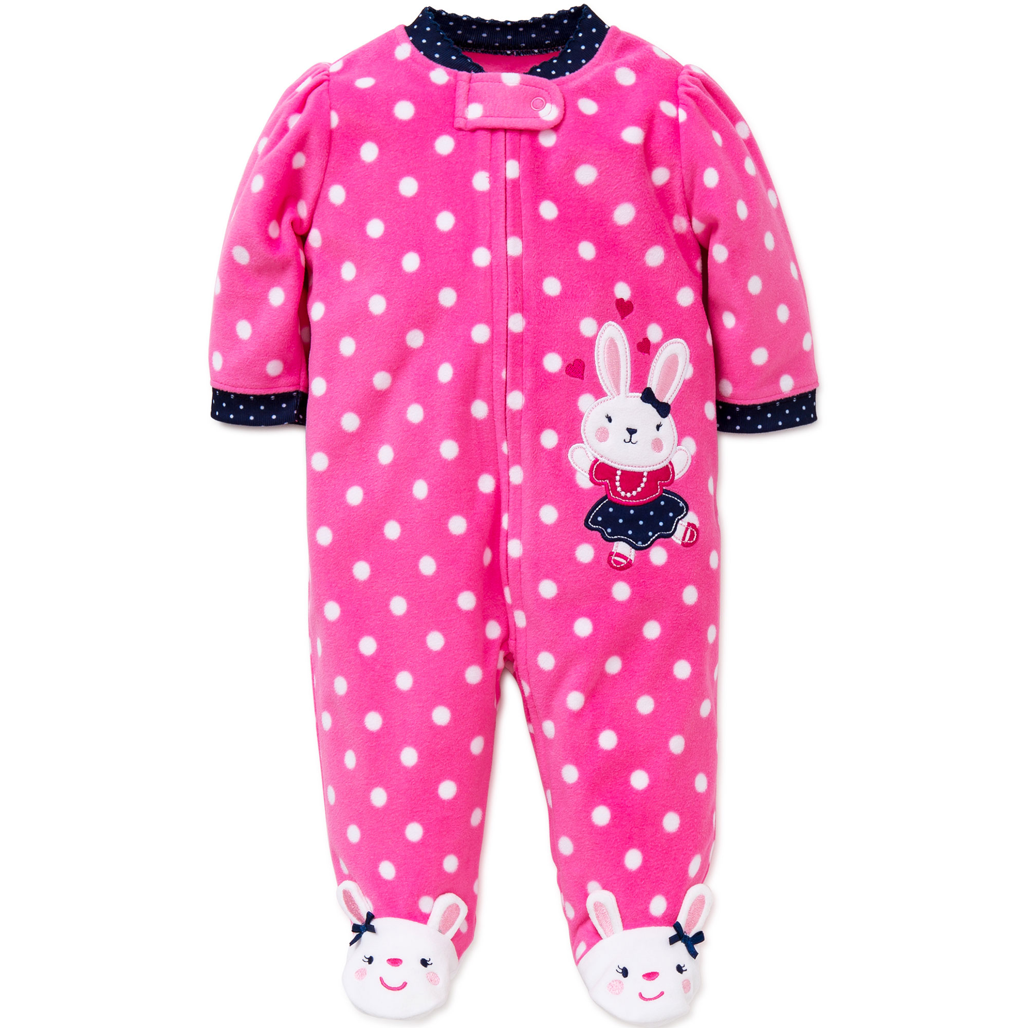 Me Bunny Blanket Sleeper Warm Fleece Footie Footed Pajamas Pink 18 ...