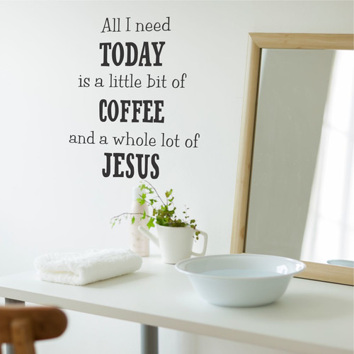 Belvedere Designs LLC Quotes  Coffee and Jesus Wall Decal