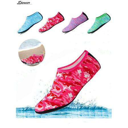 Spencer Men Women Quick-Dry Flexible Barefoot Water Skin Sports Shoes Slip-on Aqua Beach Socks For Swim Surfing Snorkeling Yoga Exercise