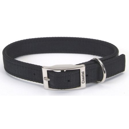 Coastal Pet Products 02901 BLK22 1 Inch Nylon Double-Ply Dog Collar, 22 Inch, Black