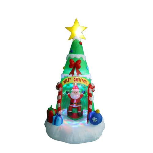 BZB Goods Christmas Tree with Santa Claus Christmas Decoration
