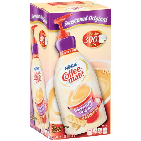 (Pack of 2) Coffee-Mate Sweetened Original Liquid Coffee Creamer 50.7 fl. oz. - Coffee Mate Pump
