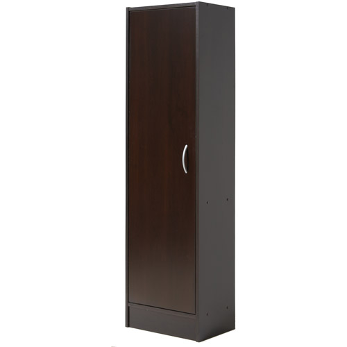 Mainstays Single Door Pantry Chocolate Walmart Com