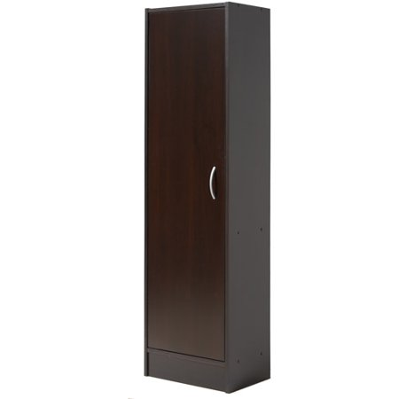Mainstays single door pantry chocolate for Individual kitchen cupboards