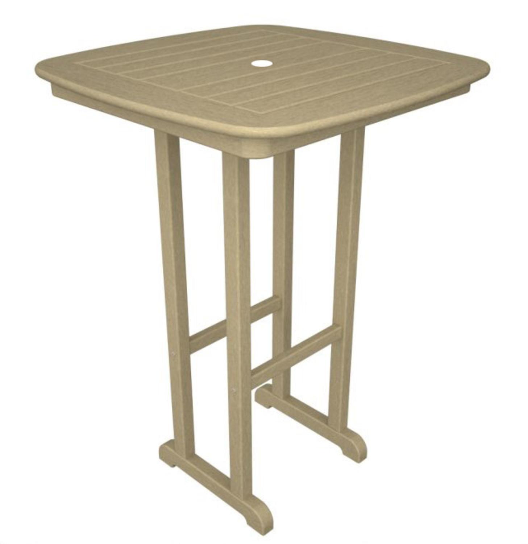 "31"" Recycled Earth-Friendly Cape Cod Outdoor Patio Bar Table - Khaki"