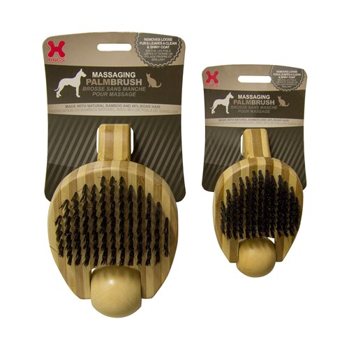 Hugs Pet Products Massaging Pet Palm Brush - Small Massaging Pet Palm Brush